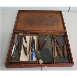 Artist Sculpture Tools in Wooden Box