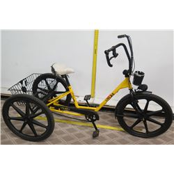 Sun Bicycles Atlas Yellow Industrial Adult Trike w/ Rear Basket Storage