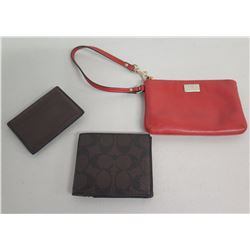 Coach Wallet, Leather ID Case & Red Wristlet