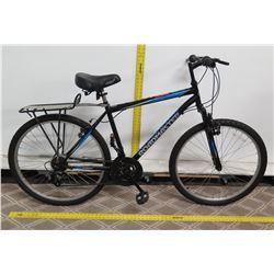 "Roadmaster Granite Peak 18 Speed Black 28"" Men's Mountain Bike w/ Rear Rack"