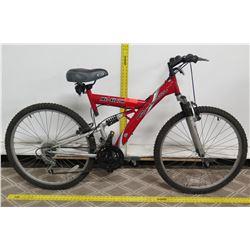 Roadmaster C9 Mt. Storm Red Dual Suspension 18 Speed Mountain Bike