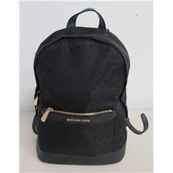 Michael Kors Logo Design Black Adjustable Strap Backpack