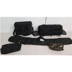 Qty 5 Cases: Herschel Camouflage & Skyroll Tote Bag, Laptop & Instrument Case