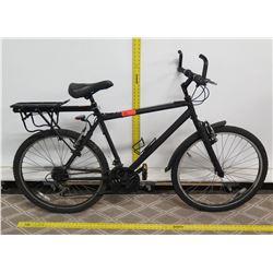 Mongoose Que Black Men's Road Bike w/ Rear Rack