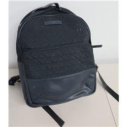 Emporio Armani Logo & Leather Black Backpack