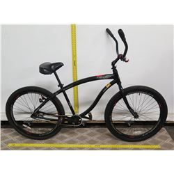 "Shogun Stryker 29"" Black Cruiser Bike w/ Ape Hanger Handlebars"