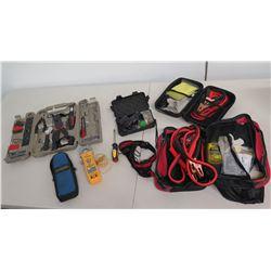 Kronus Tool Kit, Jumper Cables in Case, Fieldpiece SC260 Clamp Meter, etc
