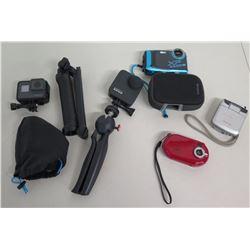 Qty 5 Cameras & Accessories:  GoPro, XP, Panasonic, Sharper Image, etc