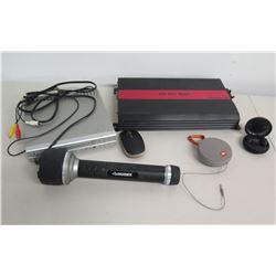 Cerwin Vega Mobile Stroker 1000.1 Amp, JBL Earbuds, DVD Player, Microphone