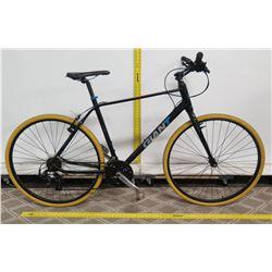 Giant Escape Black Men's City Bike w/ Yellow Tires