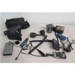 Sony Cyber-Shot & Pentax PC-550 Cameras, Garmin GPS, Motorola Microphones