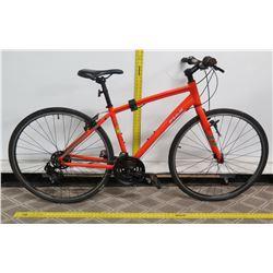 """Fuji Bikes 17"""" Absolute two.3 Orange Hybrid Bike"""