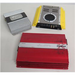 Qty 3 Amps: Sony Xplod, Lightning Audio B300.2 & Audiovox Menace PA-S250