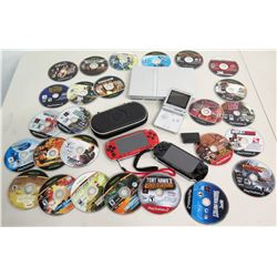 Qty 2 PSP Portable & PS2 Game Consoles, Nintendo Game Boy, & Misc Games