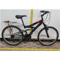Next PX4.0 Black Dual Suspension Mountain Bike w/ Rear Rack