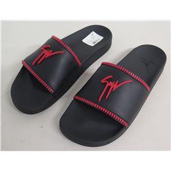 Giuseppe Zanotti Birel Zip Slides Rm90012 Black/Red Size 43 (US 9.5)