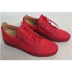 Giuseppe Zanotti 0956 026 Snake Print Fiamma Red Sneakers Size 44 (US 11)
