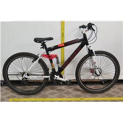 """Genesis V2100 Full Suspension 27.5"""" Black Men's Mountain Bike"""