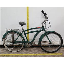 """Latrobe Brewing Co Rolling Rock 33"""" Green Road Bike w/ Fenders & Rear Rack"""