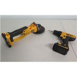 """DeWalt DCD771 Cordless Drill Driver & DCG412 4-1/2"""" Grinder"""