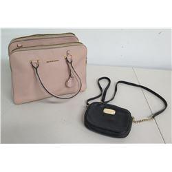 Michael Kors Houston Leather Pink Tote Bag & Black Zip Shoulder Bag