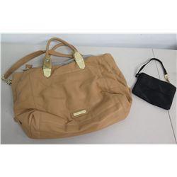 Steve Madden Brown Tote Bag & Black Zip Clutch Bag