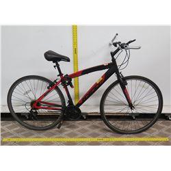 Hyper Spin Fit 700C Red Men's Hybrid Bike