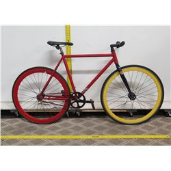 Red Men's Road Bike w/ Red & Yellow Tires
