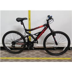 "Hyper 26"" Shocker Black Men's Dual Suspension Mountain Bike"