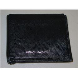 Armani Exchange Black Folding Billfold Wallet