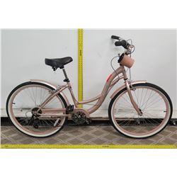"""Kent Bayside 26"""" Metallic Pink Women's Cruiser Bike"""