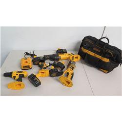 DeWalt DC970 Drill/Driver, DC825 Impact Driver, DC410 Cut-Off, DC385 Saw, etc