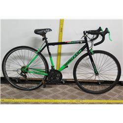 Kent 700C Roadtech Black Men's Road Bike w/ Racing Handlebars