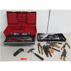 Tool Box & Tools: Pliers, Ratchets & Sockets, Crescent Wrenches, Screwdrivers