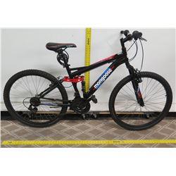 Mongoose StandOff Black Men's Full Suspension Mountain Bike