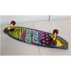 Santa Cruz Skateboard w/ Road Rider Wheels & Colorful Design