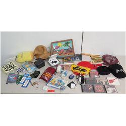 Misc CD's & DVD's, Binoculars, Swim Vest,  Packer Shell, Security Converter, etc