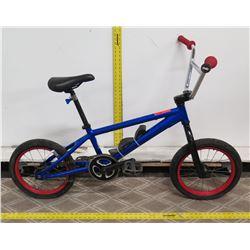 Blue Boy's BMX Trick Bike w/ Skull Accents & Red Wall Wheels
