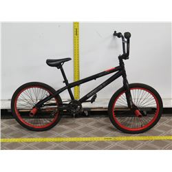 "Kent Chaos 20"" Black Boys BMX Trick Bike w/ Red Wall Wheels"