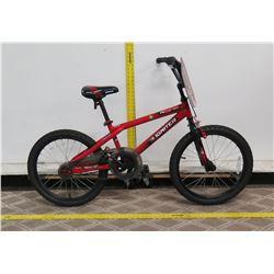 "Igniter Moto-20 Boy's Red 20"" BMX Trick Bike"