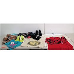 Misc Clothing: Shirts, Ross Jeans, Shoes, Hawaiian Islands Tote, Scarves, etc