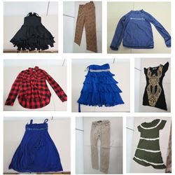 Misc Clothing: Dresses, Pants, Windbreaker, Lumberjack Shirt, Jeans, Santa Hat