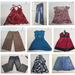 Misc Clothing: Dresses, Jeans, Capris, Denim Skirts, Blouses, Halters, Sweaters, etc