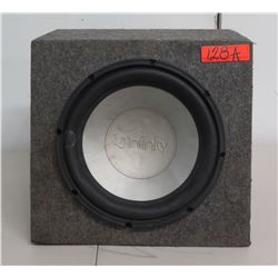 Infinity Automobile Speaker RSE120W in Carpeted Box
