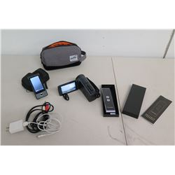 JVC Video Camera GZ-R470H, Translator, Parfum Bag, Sony Light, etc