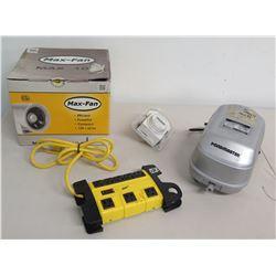 Max-Fan Max 10 Can-Fan, Pondmaster AP-40 Air Pump, Apollo 9 Timer, etc