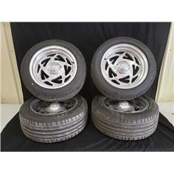 4 EAGLE ALLOY TIRES WITH RIMS NO RESERVE