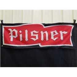 DOUBLE SIDED PILSNER FLAG NO RESERVE