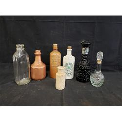 COLLECTION OF SPECIALTY BOTTLES INCLUDING 1989 SK ROUGHRIDERS JOHN GREGORY BOTTLE NO RESERVE