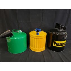 SET OF 3 PRESTONE GAS CANS NO RESERVE